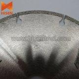 125m m electrochaparon contorno del diamante vieron la lámina para el mármol