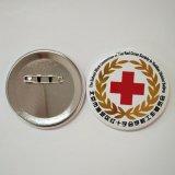 Botones en blanco del Pin para el recuerdo/la divisa redonda del estaño