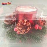 Inneres angestrichenes Glasglas-Kerze-Set mit duftendem Wachs
