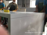 Mesa de jantar de pedra artificial personalizados topo de quartzo branca de preços de venda
