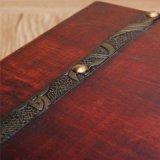 Случаи сокровища подарков коробки ювелирных изделий коробки хранения деревянной коробки ретро