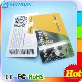 Het Plastic van pvc Adreskaartje van uitstekende kwaliteit van de qr- Streepjescode Voor Bevordering