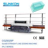Linea retta elaborante profonda di vetro sicura durevole macchina di lucidatura dello schermo del PLC delle 9 smerigliatrici del Edger del vetro piano