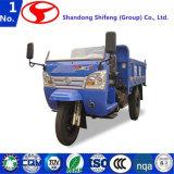 O veículo três rodado com punho da mão e a vertente/transporte/carga simples/carreg para o descarregador do veículo com rodas de 500kg -3tons três