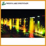Rectangle coloré de la piscine fontaine de la musique de danse d'éclairage LED