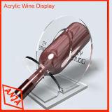 De houten Lijst van de Vertoning van de Houder van het Glas van de Wijn Houten voor de Fles van de Wijn