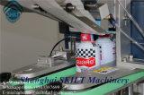 Máquina de etiquetas da etiqueta da precisão da superfície superior de frasco de petróleo dos salmões/motor