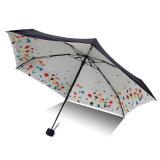 Bonito diseño cinco Floding paraguas