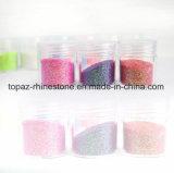 Los diseños de Navidad multicolor de polvo brillante joya decoraciones de uñas Glitter UV acrílico Polvo Glitter Glitter cara