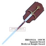 Espadas medievais da decoração das espadas das espadas da película 105cm HK81012A