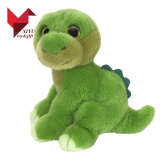 Jouet mou de bébé de vert de dinosaur de peluche