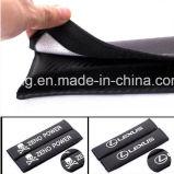 Le carbone de ceinture de sécurité de logo de véhicule couvre des garnitures d'épaule pour Renault