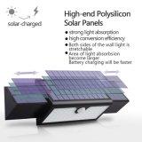 2017 3PCS luz al aire libre accionada solar solar extensible de la pared de los paneles 71 LED con las baterías de 2PCS 2600mAh 18650
