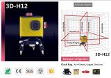 Drehende 360 12 Zeile 3D rote Träger-Laser-Stufe