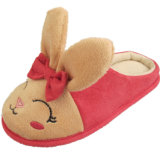 여자 아기를 위한 귀여운 분홍색 토끼 슬리퍼