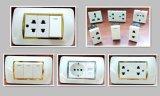 Socketes de pared multi del socket del duplex francés doble del socket