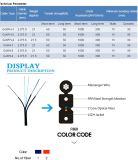 Câble fibre optique simple du modèle FTTH de gaine de PVC CAT6 avec le faisceau 2