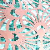Pared decorativa de la pantalla del corte del laser del modelo del arte