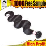 織り方の毛のマレーシアの人間の毛髪の拡張