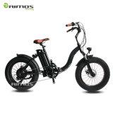Мотоцикл дешевого велосипеда автошины повелительниц 20inch тучного белого складного электрического электрический