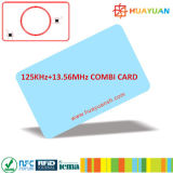 125kHz plus 13.56MHz Combo de Hybride Kaart Zonder contact van pvc RFID