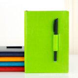Capa de couro PU personalizados promocionais, capa dura de Notebook Oficial Diary