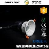 Ty6 projecteur léger enfoncé par DEL Downlight avec du ce RoHS