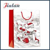 BSCI 공급자 주문 로고는 크리스마스 디자인 종이 봉지를 인쇄했다
