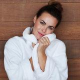 Hôtel de luxe 5 étoiles de la microfibre Terry broderie logo peignoirs de bain