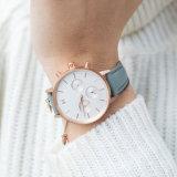 Kundenspezifische Firmenzeichen-Frauen-Edelstahl-Uhr