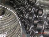 Grand boyau de métal flexible d'acier inoxydable de diamètre avec le tressage