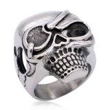 Anillo punky del cráneo del acero inoxidable de la joyería al por mayor de la manera para los hombres