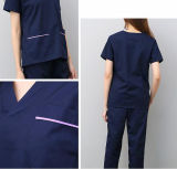 Le lavage des vêtements à manches courtes Split s'adapter à la salle d'exploitation de sacs à main de la brosse de coton à manches longues Vêtements de travail uniforme de l'infirmière dentaire