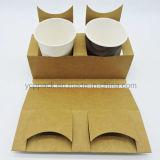 Soporte disponible de la taza de papel de Kraft