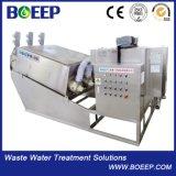 Faible encombrement en acier inoxydable 304 Boues vis filtre presse pour le traitement des eaux usées