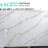 밝은 회색 정맥 Calacatta 훈장 벽을%s 백색 석영 돌