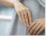 Verkoop &Best 925 van de Ring van de Vrouw van CZ van de Juwelen van de manier de Witte Populaire Echte Zilveren Ring (R10414)