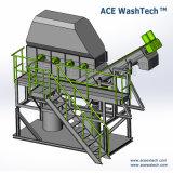L'utilisation durabledes déchets de plastique contaminés Système de séchage de lavage de meulage