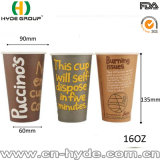 16 onzas imprimieron diseños de la taza de papel del café/la taza de papel de un sólo recinto