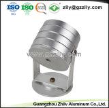 Dissipateur de chaleur en aluminium anodisé argent Extrusion pour LED Spotlight