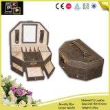 Caja de joyas de lujo personalizado el cajón de cuero joyas embalaje Caja (4086)