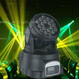 RGB LEIDENE van de Wasmachine 18X3w van de Muur van de Verkoop van de fabriek Directe Bewegende HoofdVerlichting Stage/TV Show/DJ/Party/Disco met Ce