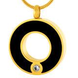 Kreis-Halsketten-Edelstahl-Verbrennung-hängende Erinnerungsurne-Schmucksachen