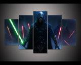 5 el panel HD grande imprimió el cuadro decorativo del arte de la pared del hogar del arte de la impresión de la lona de Skywalker Star Wars de la pintura al óleo para la sala de estar