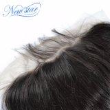 最もよい品質のバージンの人間の毛髪の卸売のインドのまっすぐな13X6 Frontal