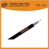 Mejor Venta de 75 ohmios RG59 Cable coaxial de PVC negro con la ISO, CE, la RCP, Certificado RoHS