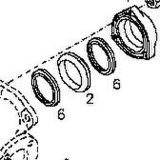 Guarnizione per il motore diesel FL912, 913, 413