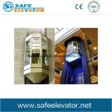 Piccolo tipo elevatore facente un giro turistico commerciale del passeggero della stanza della macchina di vista di vista