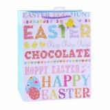 Sacs en papier enduits de cadeau d'art de vacances de lapin de Pâques