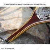 03G-Hwrn05ゴム製純袋のフライフィッシングのたも網が付いている標準的な手のネット